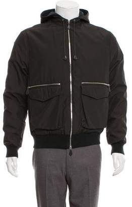 Hermes Cashmere-Lined Zip-Up Jacket
