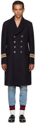 Gucci Navy Wool Hollywood Coat