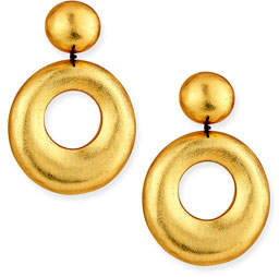 Viktoria Hayman Door-Knocker Clip-On Statement Earrings