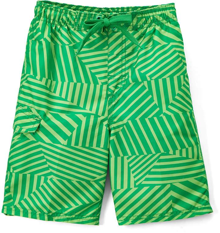 Green Static Geometric Boardshorts - Toddler & Boys