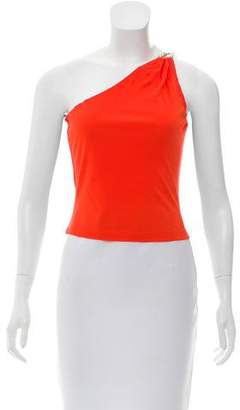 Celine One-Shoulder Sleeveless Top