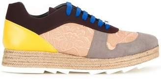 Stella McCartney paneled lace-up sneakers