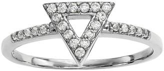 Dainty Designs 14K 1/7 cttw Diamond Triangle Ring