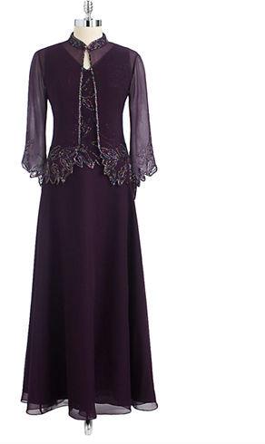 J Kara Beaded Jacket Gown