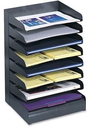Safco, SAF3129BL, Slanted Shelves Steel Desk Tray Sorter, 1 Each, Black