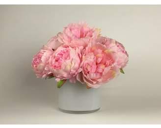 Mercer41 Artificial Silk Peonies Floral Arrangement in Decorative Vase Flower