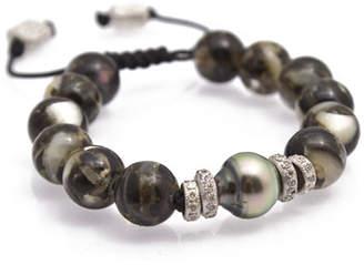 Armenta New World Tahitian Pearl Bracelet with Champagne Diamonds