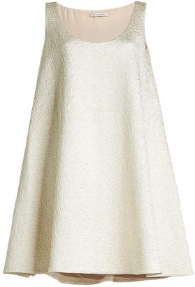 Emilia Wickstead Metallic Dress with Cotton and Silk