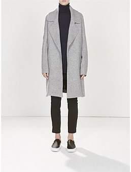 Bassike Wide Lapel Wool Felt Coat