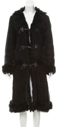 Anna Sui Long Shearling Coat
