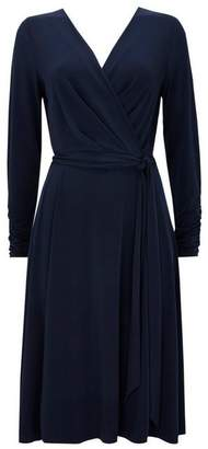 Wallis Navy Wrap Midi Dress