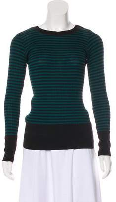 Sonia Rykiel Sonia by Striped Long Sleeve Sweater