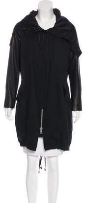 AllSaints Hooded Long Coat