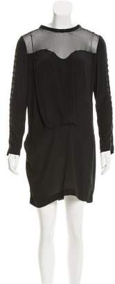 IRO Long Sleeve Sheer Accented Dress