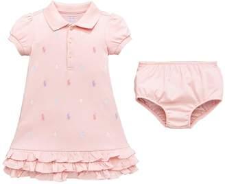 Ralph Lauren Girls Ruffle Polo Dress