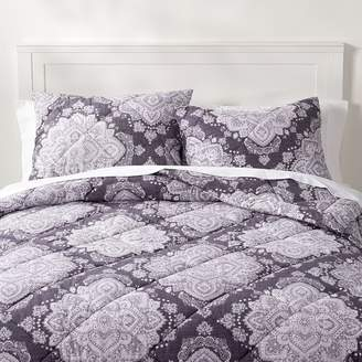 Pottery Barn Teen Ana Medallion Comforter, Full/Queen, Dark Purple