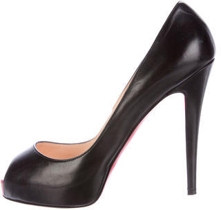 Christian Louboutin  Christian Louboutin Leather Peep-Toe Pumps