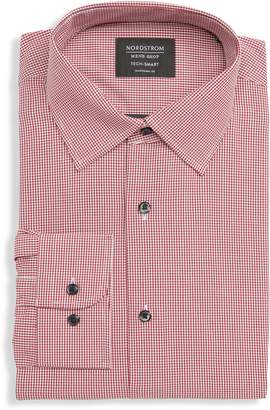 Nordstrom Tech-Smart Traditional Fit Stretch Check Dress Shirt