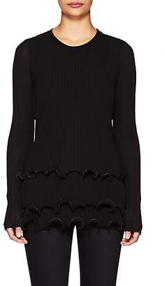 Givenchy Women's Lettuce-Edge Tiered Sweater - Black