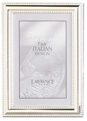 Lawrence Frames Metal Picture Frame Silver-Plate with Delicate Beading