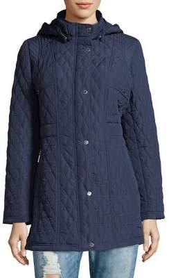Weatherproof Quilted Hooded Jacket