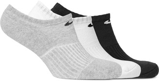 Nike Three-Pack Cushioned Cotton-Blend No-Show Socks $14 thestylecure.com