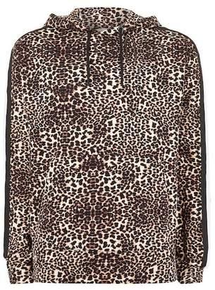 Topman Leopard Patterned Hoodie