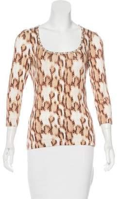 Just Cavalli Printed Jersey Top