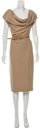 Donna Karan Wool Midi Dress