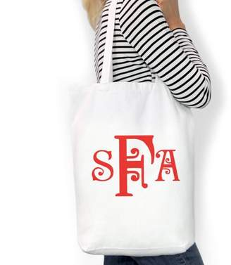 "Monogram Online Monogram Custom Cotton Tote Bag, Sizes 11"" x 14"" and 14.5"" x 18"""