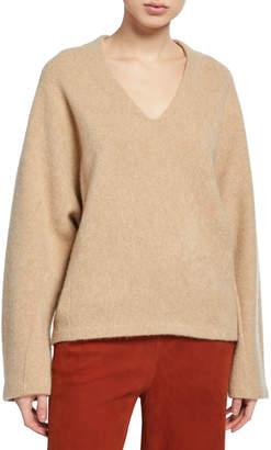 Vince V-Neck Dolman-Sleeve Sweater