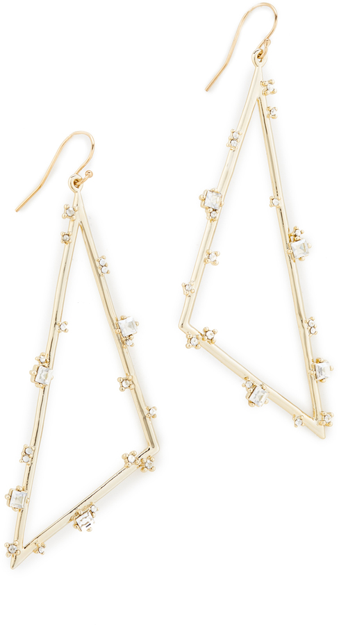 Alexis Bittar Alexis Bittar Satellite Crystal Angled Earrings