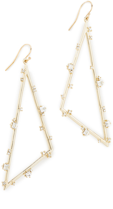 Alexis Bittar Satellite Crystal Angled Earrings $145 thestylecure.com