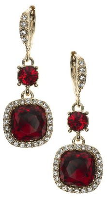 Women's Givenchy Cushion Crystal Drop Earrings $48 thestylecure.com