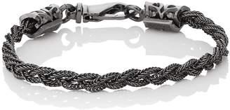 Emanuele Bicocchi Men's Braided Foxtail Chain Bracelet