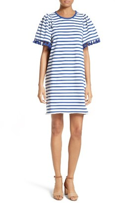 Women's Kate Spade New York Stripe Flutter Sleeve Dress $228 thestylecure.com
