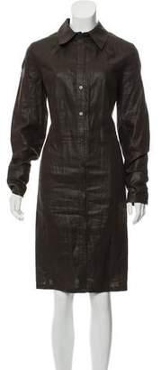 Magaschoni Button-Up Midi Dress
