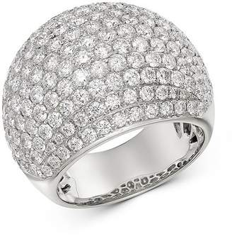 Bloomingdale's Pavé Diamond Dome Ring in 14K White Gold, 4.50 ct. t.w. - 100% Exclusive
