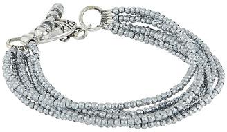King Baby Studio - 8 Strand Hematite Bracelet w/ Mini Toggle Clasp Bracelet $325 thestylecure.com