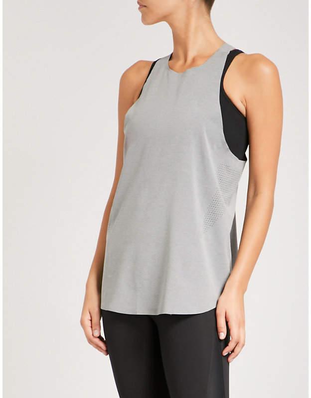 LNDR Run perforated stretch-jersey top