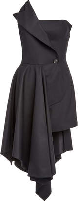 Monse Strapless Wool-Blend Mini Dress