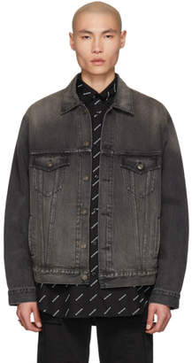 Balenciaga Black Denim You Are The World Jacket
