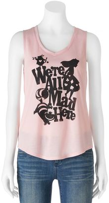"""Disney's Alice in Wonderland Juniors' """"We're All Mad Here"""" Graphic Tank $20 thestylecure.com"""
