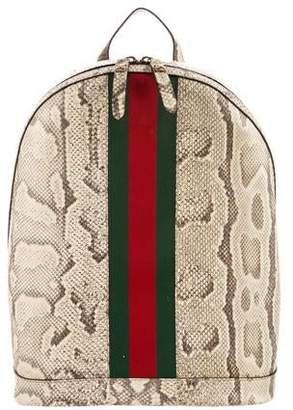 Gucci Web Animalier Python Backpack w/ Tags