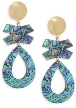 Nest Abalone Clip-on Earrings