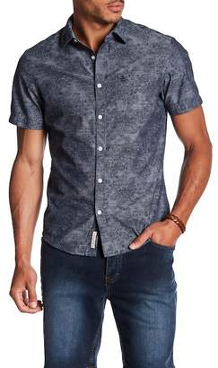 Original Penguin Short Sleeve Chambray Floral Shirt