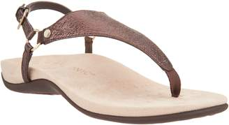 faa5ed77283 Vionic Leather Footbed Women s Sandals - ShopStyle