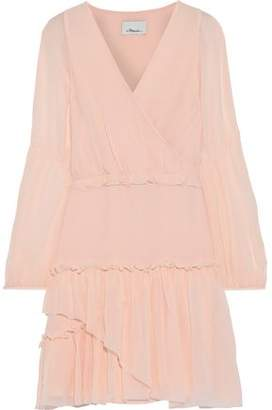 3.1 Phillip Lim Wrap-effect Ruffle-trimmed Silk-chiffon Mini Dress