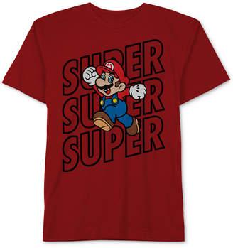 Nintendo Super Mario Graphic-Print Cotton T-Shirt, Big Boys
