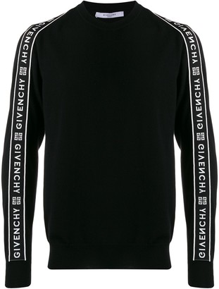 Givenchy side panelled logo sweater